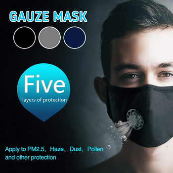 5 Layers PM2 5 Anti Dust Mouth Mask Reusable Masks Cotton Unisex Activated Carbon Filter Anti Pollution Mask tanie i dobre opinie