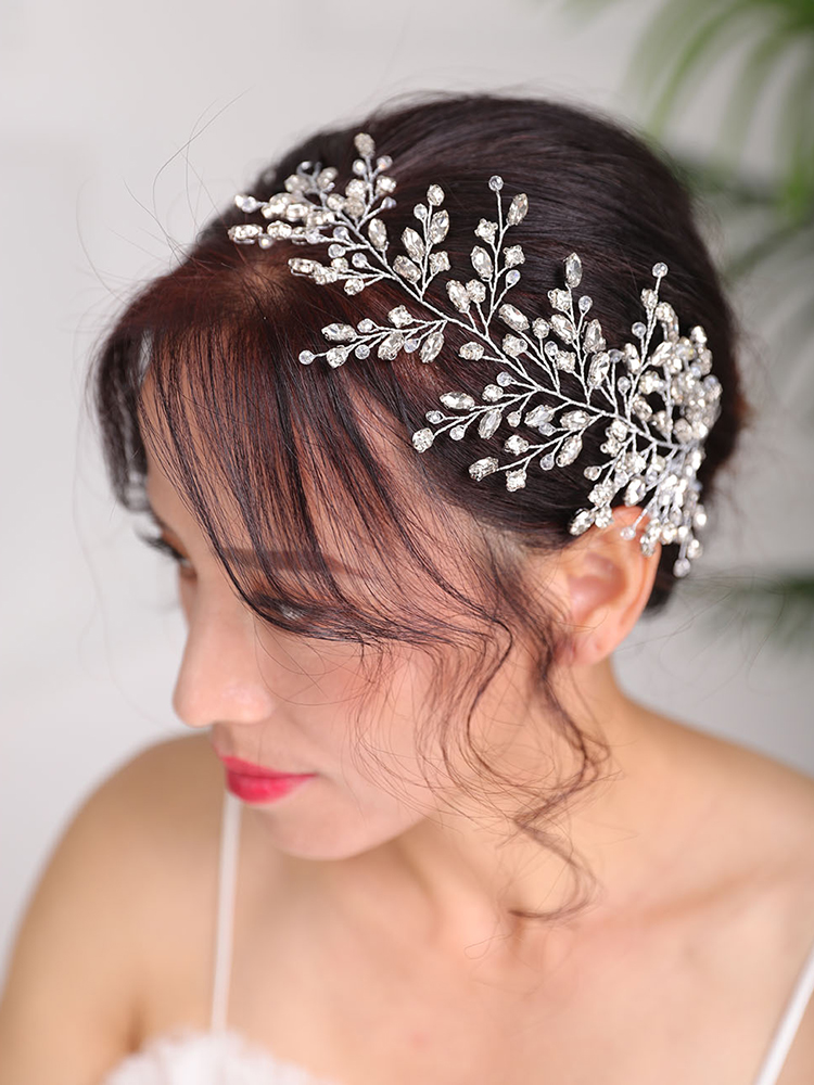 Silver Headband Rhinestones Crystal Hairstyles Jewellery Party women Ornaments Bridal Headpieces Wedding Hair Accessories
