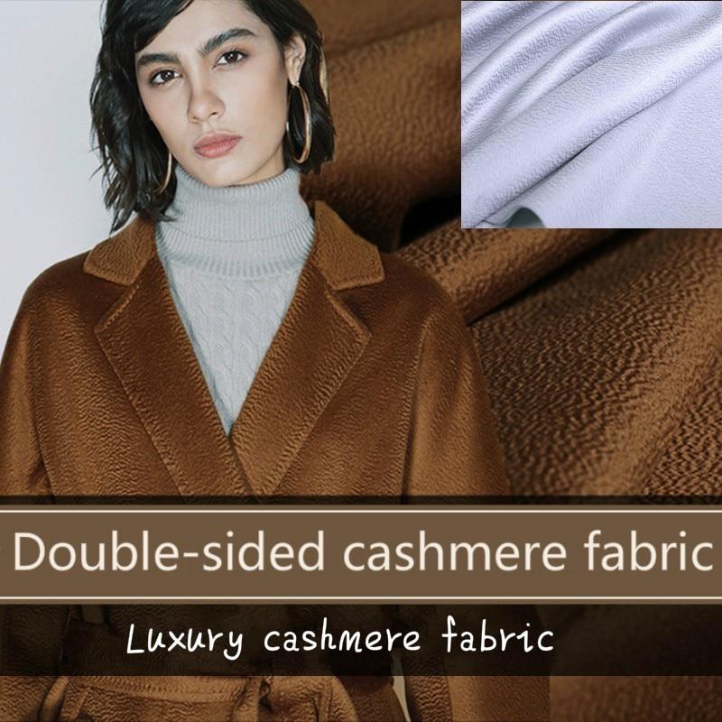 Camel foncé ondulé cachemire tissu gris hiver manteau veste laine cachemire tissu 150 cm de large laine tissu en gros laine tissu