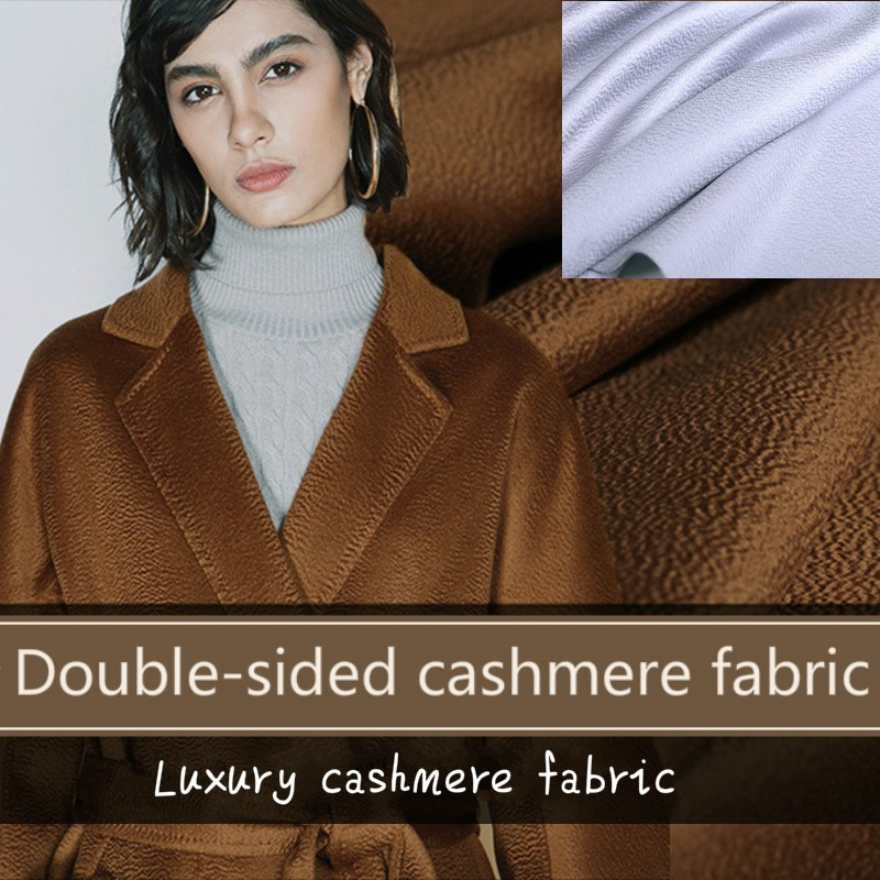 Italian heavy brown wool//cashmere fabric for suits,coats 150 cm wide