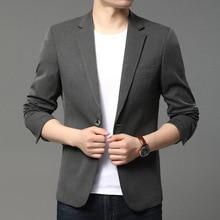 Men Blazers Jackets Leisure-Suit Americana Business Gray Black Male Autumn for Hombre