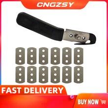 Folia winylowa gilotyna do papieru z 12 sztuk metalowe ostrza naklejki samochodowe Wrap narzędzia tnące nóż artystyczny Car Styling Cutter narzędzia ręczne E34 + 12M