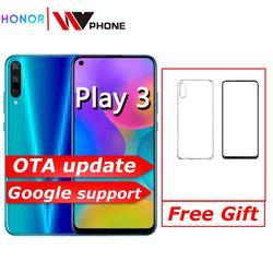 Honor play 3 smartphone 4000 mah bateria kirin 710f 48mp câmera android 9.0 6.39