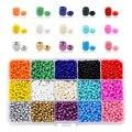 2mm 3mm 4mm Tschechische Glas Seedbeads Charme kleine Schmuck Kristall Perlen DIY Für Armband Halskette Schmuck Machen 15 farben