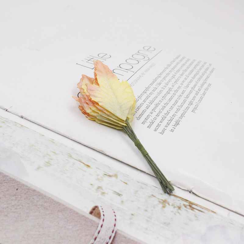 DIY/12 الاصطناعي يترك اليدوية المواد الزفاف الديكور عيد الميلاد الديكور عيد الحب هدية مربع الحرف اليدوية