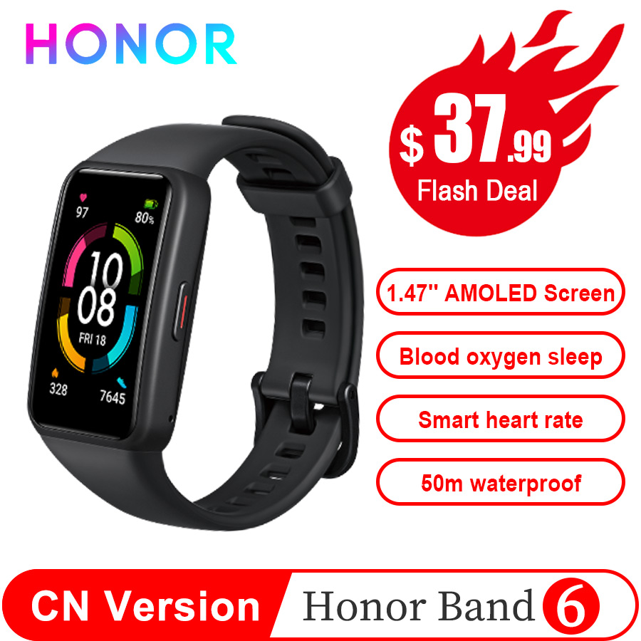 Original Honor Band 6 NFC STD Smart Wristband 1st Full Screen 1.47