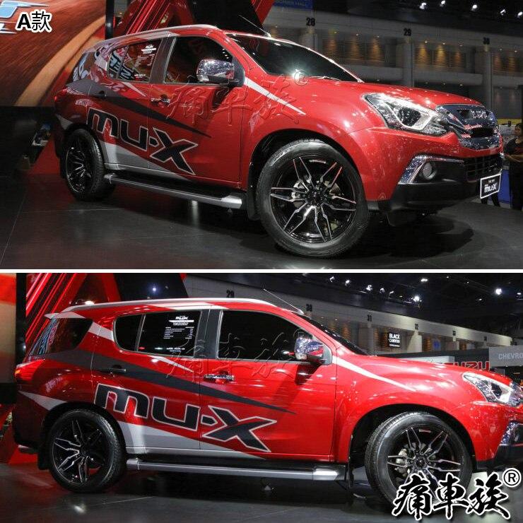 Стикер для автомобиля Isuzu mu X, украшение для двери кузова, наклейка с цветком, цветная панель mu X blue drive, декоративная наклейка для ремонта - 4