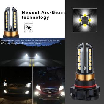 Jasna biała 6000K LED światła przeciwmgielne H16 5202 dla światła przeciwmgielne samochodu światła samochodowe akcesoria żarówki reflektorów samochodowych V6 samochodu cztery boki tanie i dobre opinie JOSHNESE CN (pochodzenie) 12 v 6000 k