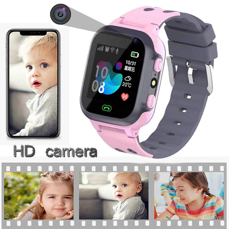 Kids Horloges Call Kinderen Slimme Horloge Voor Kinderen Sos Waterdichte Smartwatch Klok Sim-kaart Locatie Tracker Kind Horloge Jongen Meisjes 3