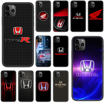 Honda JDM logo car Phone case For iphone 4 4s 5 5S SE 5C 6 6S 7 8 plus X XS XR 11 PRO MAX 2020 black waterproof painting funda image
