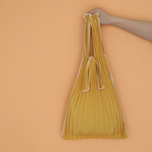 Niche design kna plus vertical-pleats wild pleated bag single shoulder portable shopping