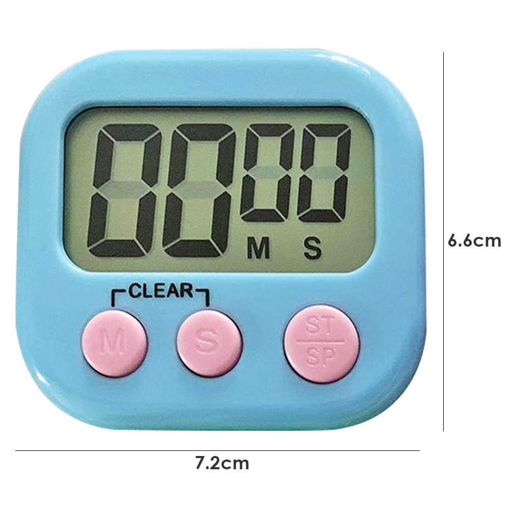 LCD électronique affichage numérique écran minuterie magnétique Table de cuisson compte à rebours réveil chronomètre avec support pour cuisine