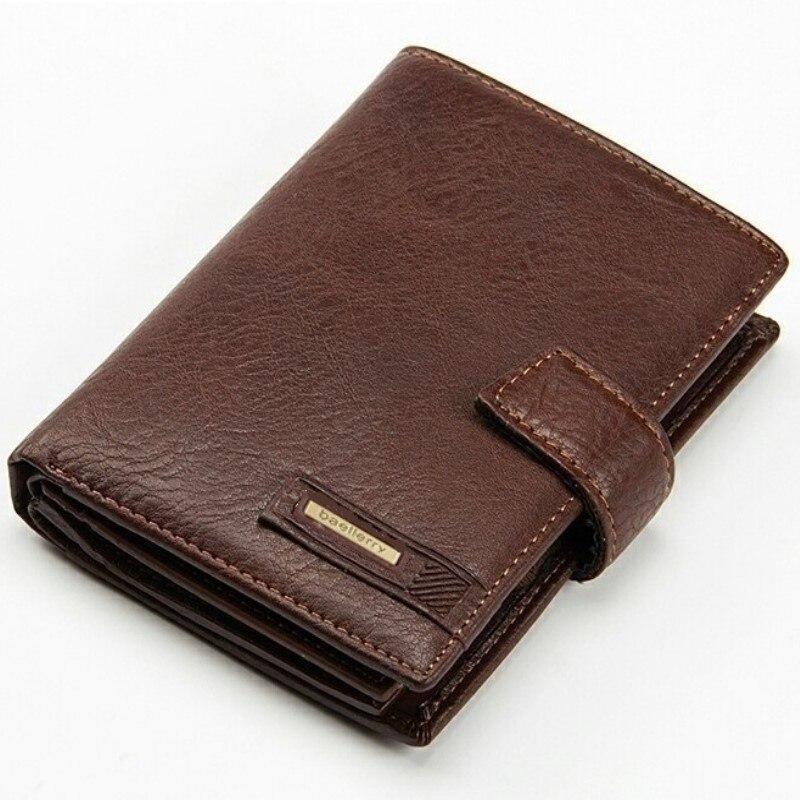 Men Passport Cover Pouch Short Mini Wallet Business Card Holders Male Coin Purse Men Wallets Genuine Leather Clutch Wallet