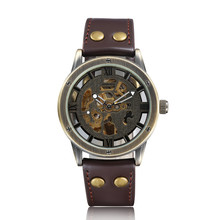 Gorben Brown/Black Leather Strap Automatic Mechanical Watch