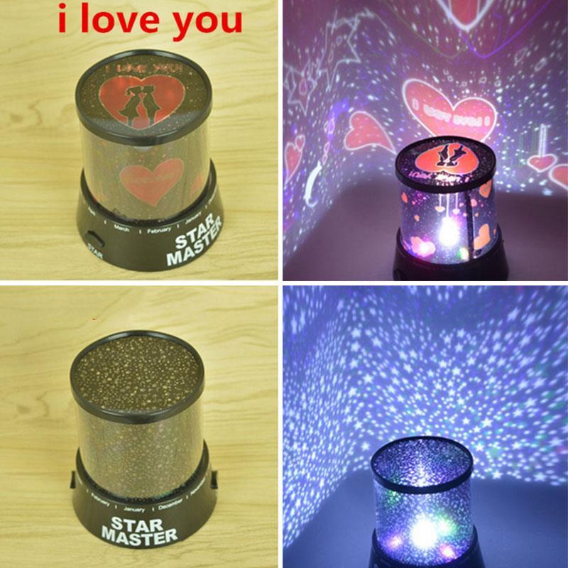 I LOVE YOU/Starry Sky Stars LED Projector Lamp Night Light Decor Christmas Gift