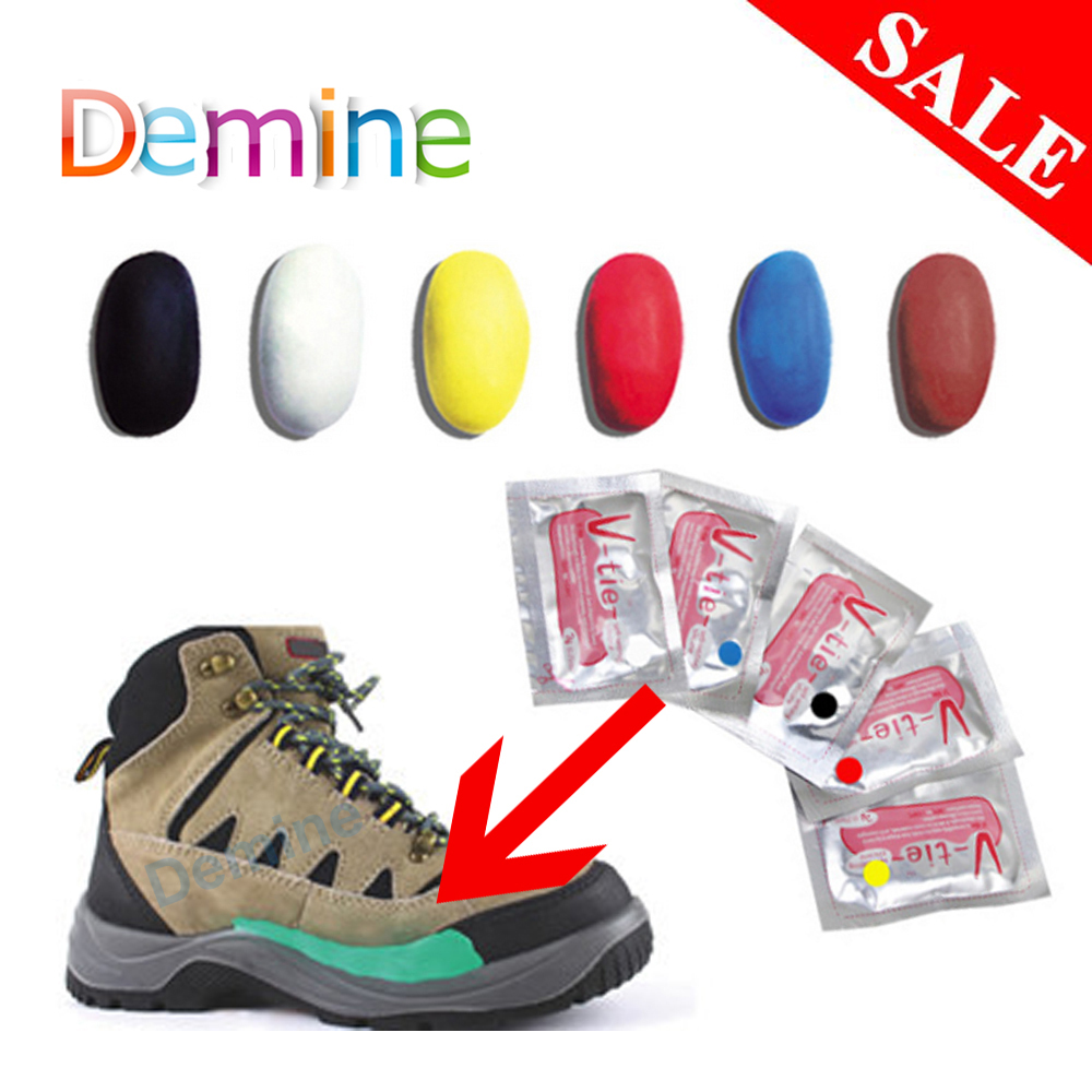 Demine Moldable Glue for Shoes Repair Stick DIY Self-Setting Silicone Mud Fix Things Plasticine Rubber Shoe Care Tools