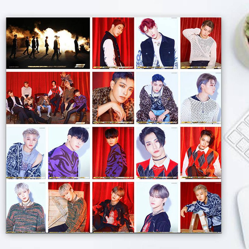 18Pcs/Box KPOP ATEEZ Album The Collection HD Photo Card PVC Cards Self Made LOMO Card Photocard