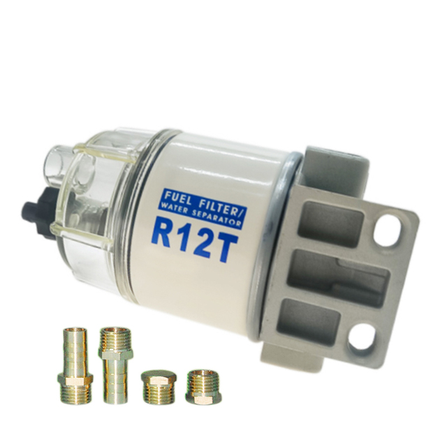 1 Pcs Brand New R12T Fuel/ Water Separator Complete Assembly Filter diesel engine for Racor 140R 120AT Automotive Parts Filter 1