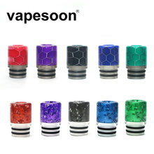 75pcs/lot Beautiful Resin Drip Tip For 510 Thread Vaporizer Tank RDA RDTA TFV12 baby prince VECO solo plus Tank(China)