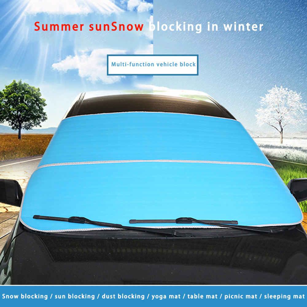 200X95cm Car Front Windshield Sunshades Universal Magnetic Protective Cover Front Rear Car Window Sunshade Snow Anti-Icing Cover