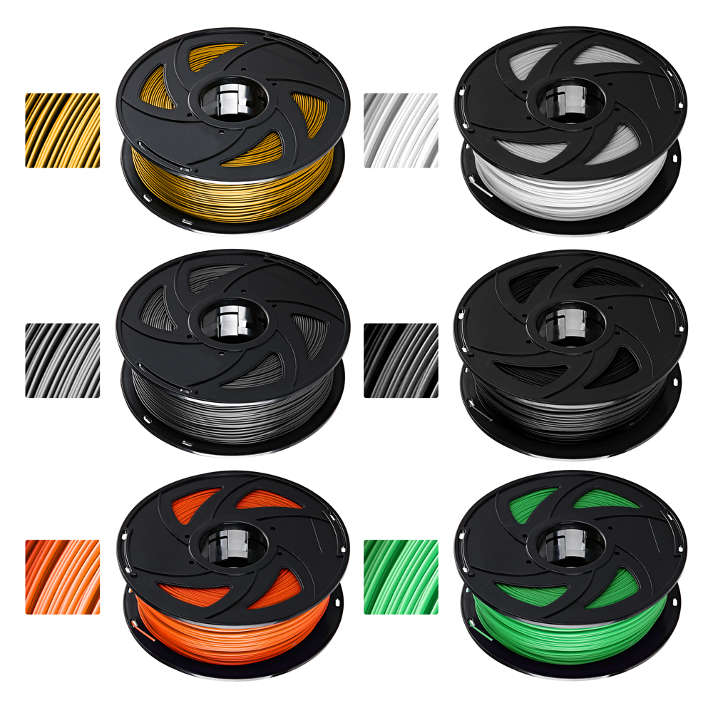 XVICO 1KG/ Spool PLA 3D Printer Filament for Excellent Print Quality and Good Molding Effect