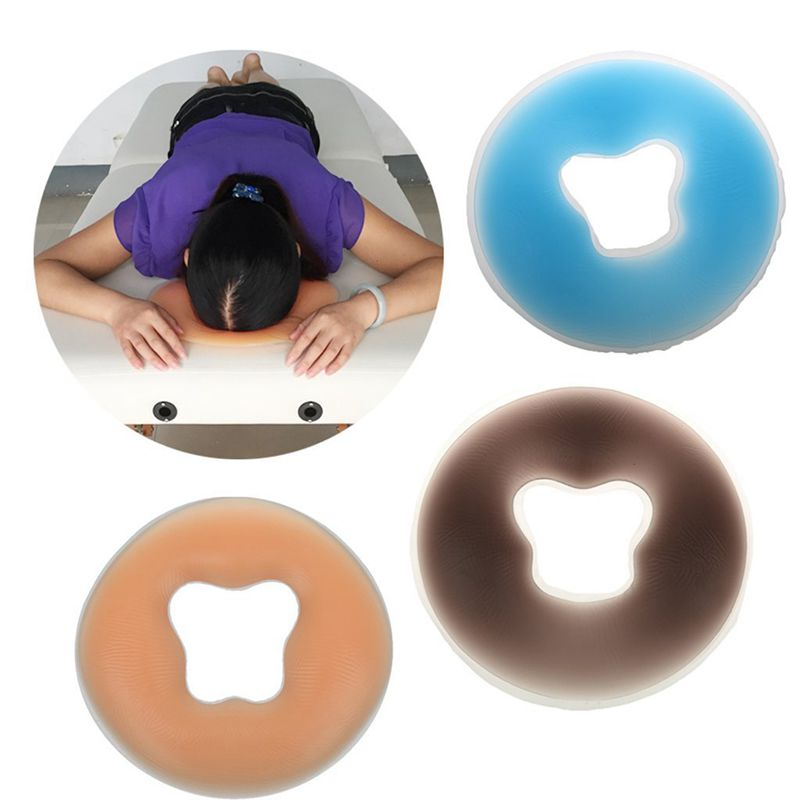Soft Salon SPA Massage Silicone Face Relax Cradle Cushion Bolsters Pillow Pad Beauty Care M