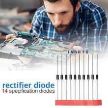 200 шт 14 размеров быстрое переключение диод шоттки 1N4001 диод 1N4004 ассортимент промышленного электрооборудования и приборов