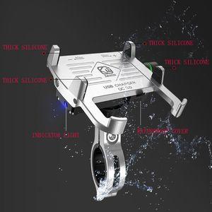 Image 2 - Moto in metallo Supporto Del Telefono Cellulare Impermeabile per Moto Manubrio Specchio Del Basamento Del Telefono con CONTROLLO di QUALITÀ 3.0 Caricatore USB Presa di Montaggio