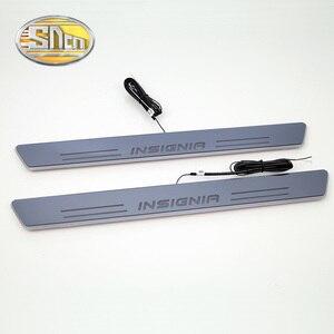 Image 4 - SNCN Wasserdichte Acryl Moving LED Willkommen Pedal Scuff Platte Pedal Türschwelle Pathway Licht Für Opel Insignia 2013 2014 2015