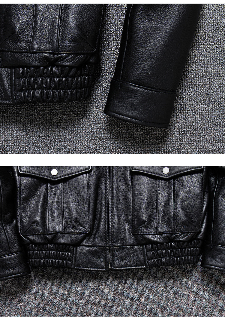 H3d7dded0254b4bbb8b9c1a5a3c0a96d8E 2019 Vintage Men's G1 Air Force Pilot Jackets Genuine Leather Cowhide Jacket Plus Size 5XL Fur Collar Winter Coat for Male