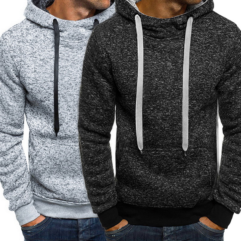 Winter Solid Hoodie 2019 New Men's Casual Tracksuits Mens Hip Hop Coat Pullover Sweatshirt Men Hoodies Autumn Winter Coat