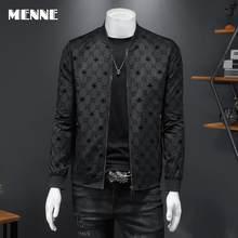 MENNE New arrival spring men's jacket Baseball collar LETTER Mens jacket black Casual jacket for men
