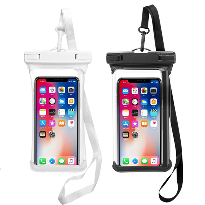 2pcs Float Waterproof Bag Universal Mobile Phone Bag For iPhone SE 11 Pro Max Xs Samsung Huawei Xiaomi Swimming Under Water Case image