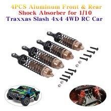 4 PEZZI di Alluminio Anteriore e Posteriore Ammortizzatore per 1/10 Traxxas Slash 4x4 4WD RC Auto