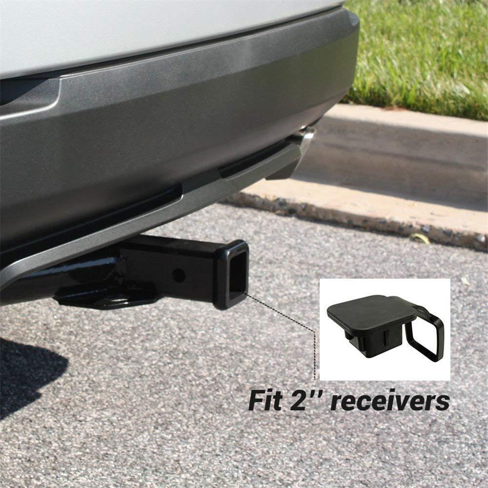 50mm X 50m Trailer Hitch Receiver Cover For Ford Jeep Chevrolet 1Pc 2 Inch Auto Trailer Hitch Cover Plug Caps Rubber For Toyota