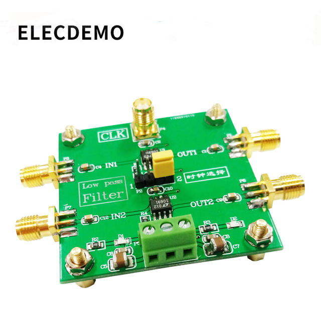 LTC1069 Module 8th order low pass filter Progressive Ellipse filter 2 Way Output  External clock Control Module demo board