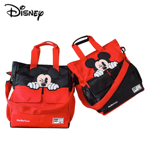 Image 2 - ディズニーミッキーマウス学校家庭教師バッグ中学生バッグキャンバス子供のメッセンジャーショルダーバッグ男の子ハンドバッグ