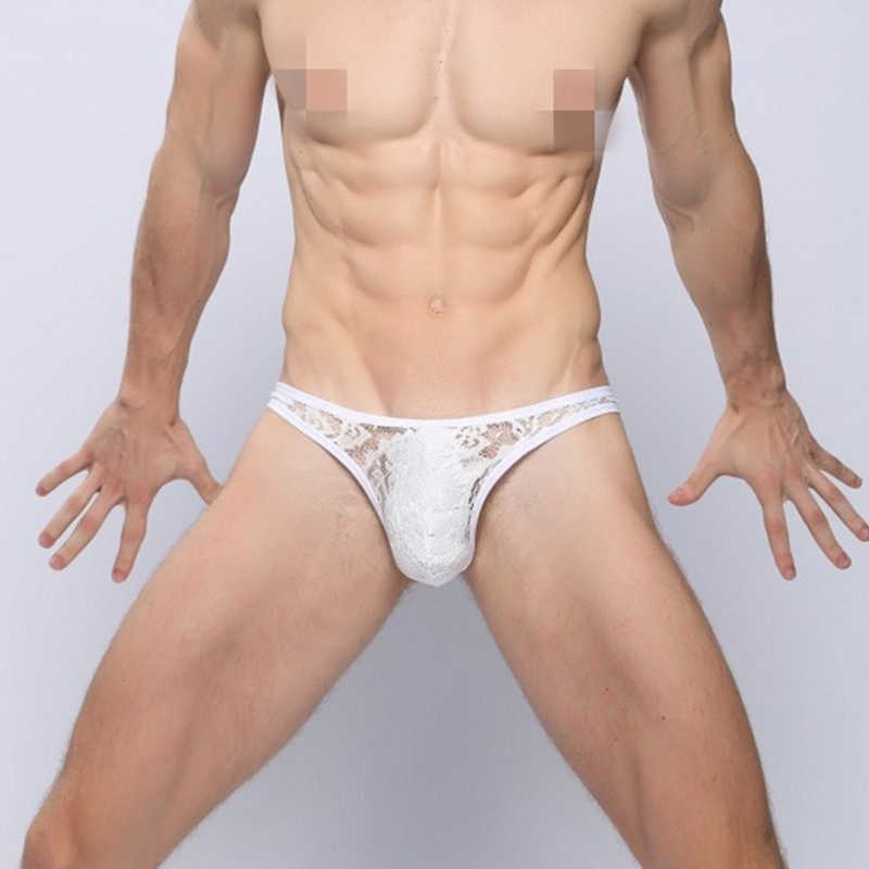 XXL Good Quality Sexy Men Thong and G Strings Lace Midnight Underwear Panties Low Waist Lingerie Man