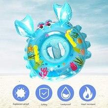 Краб детское плавание кольцо надувные плавать поплавок кольцо бассейн игрушки ПВХ не Такситовая безопасности чернила печать ручек малыша