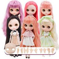Neo blyth boneca nbl personalizado rosto brilhante, 1/6 bjd bola articulada boneca ob24 blyth para a menina, brinquedos para crianças nbl01-13
