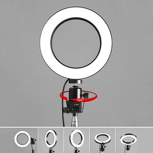 Image 3 - 9ซม./16ซม.LED Lightชุดหรี่แสงได้3200K 5500K Annular Make Upโคมไฟและขาตั้งกล้องสำหรับสตูดิโอถ่ายภาพแสง
