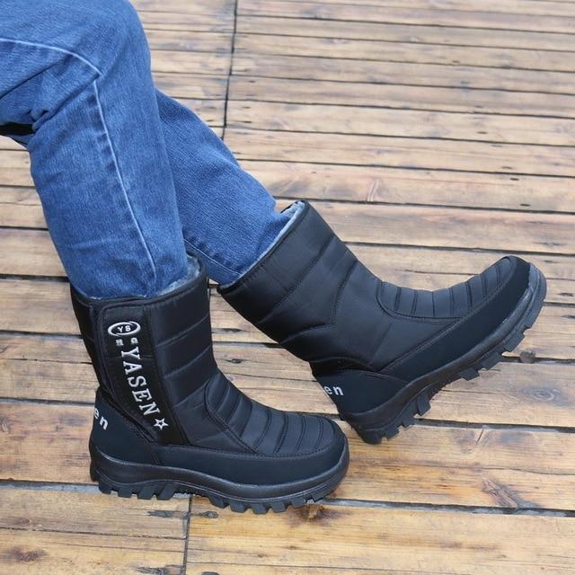 Men snow boots 2020 men winter shoes warm waterproof non-slip platform boots for men botas de hombres size 40 - 45 4