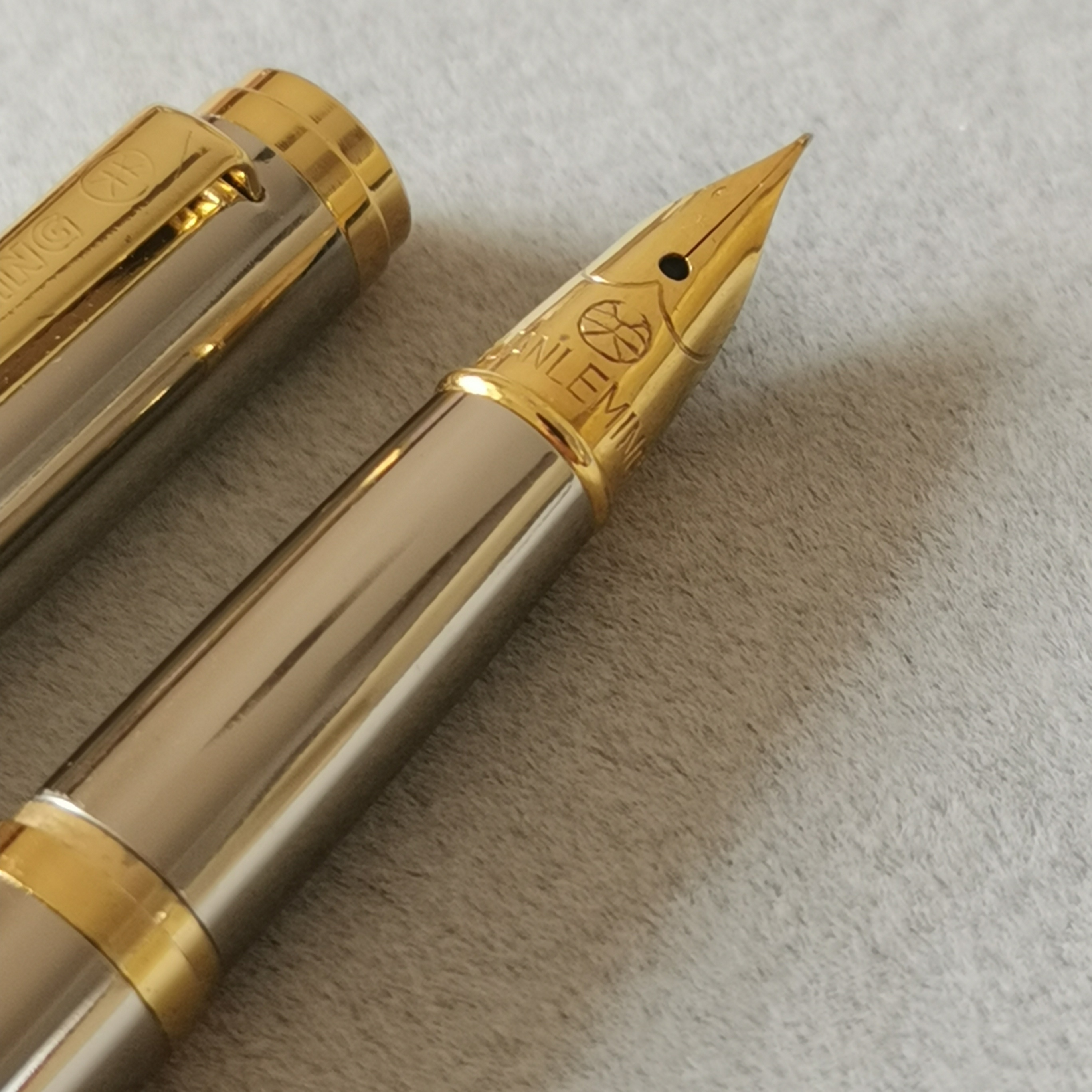 Rare Old Stock 1Pc GLM Fountain Pen Ink Pen Gold Trim Aerometric Pen 1998S Stationery Office School Supplies