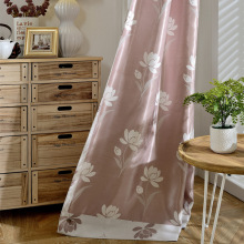 European Style Modern Simple Jacquard Curtain Double-sided Blackout Printing Curtains for Living Room Bedroom Chinese