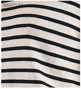 Image 5 - BAHTLEE אביב סתיו נשים סוודרי צמר שחור לבן פסים סוודר סרוג Jumper ארוך שרוולים O צוואר Loose סגנון