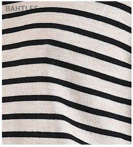 Image 5 - BAHTLEE printemps automne femmes laine pulls noir blanc rayé pull tricoté pull manches longues col rond Style ample
