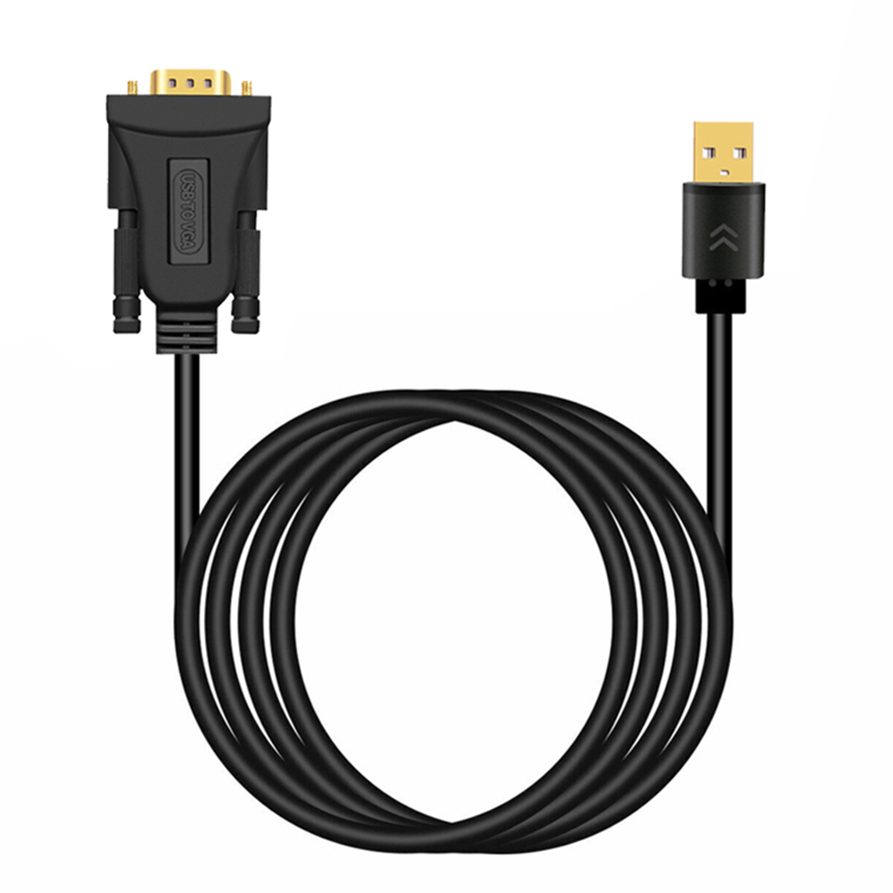 1.5M / <font><b>2M</b></font> / 3Metres <font><b>USB</b></font> <font><b>Cable</b></font> <font><b>3.0</b></font> Male To VGA Male <font><b>USB</b></font> To VGA Adapter Audio Video Converter Environmental Protection PVC image