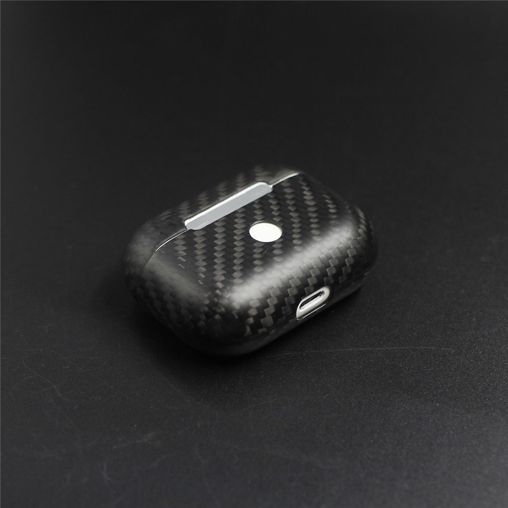 Image 2 - New Real Carbon Fiber Protective Case For AirPods Pro Wireless Earphone Charging Case Shockproof LED Cover Earphone AccessoriesEarphone Accessories   -