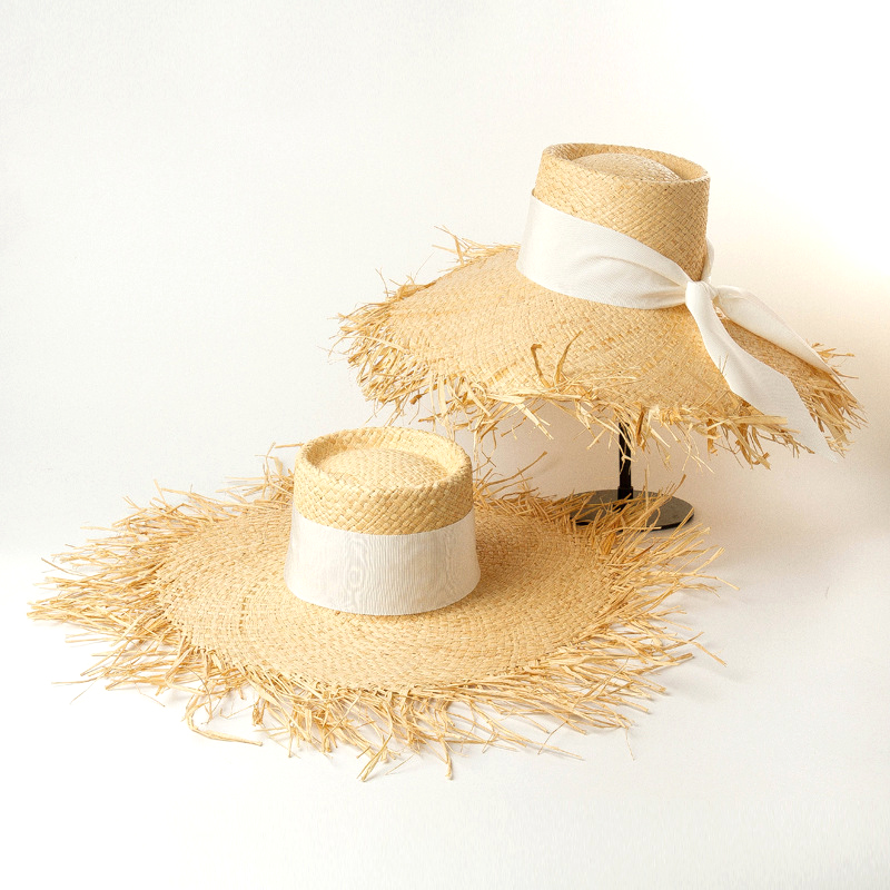New Fashionable Women Raffia Sun Hats Ladies Summer Straw Beach Hat Big Brim Caps Dropshipping Wholesale