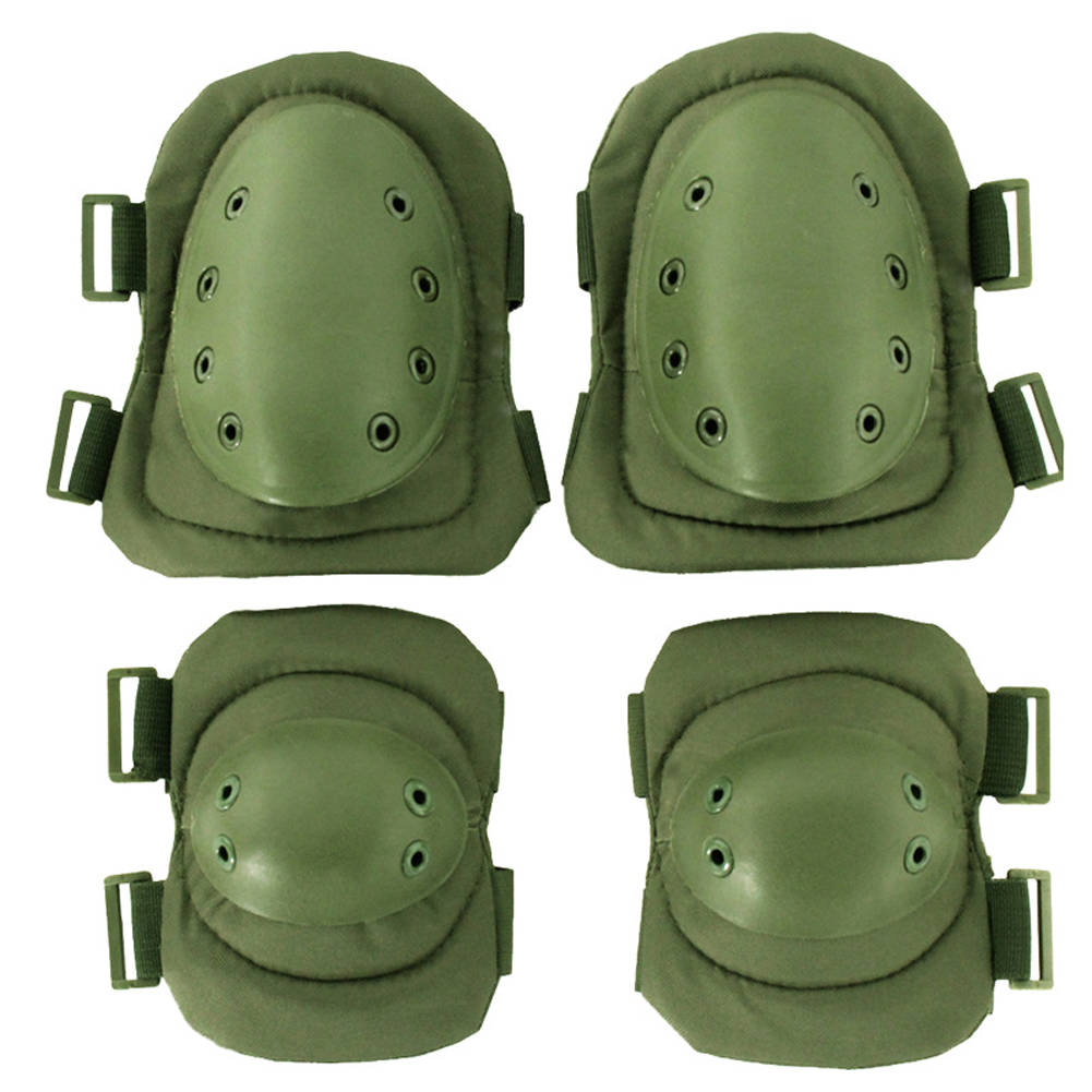 4pcs Knee Elbow Multipurpose Skating Anti Collision Safety Guard Adjustable Straps Cycling Protective Pad Set Outdoor Sports